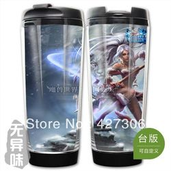 League of Legends LOL Snow Bunny Nidalee Plastic Coffee Cup Free Shipping