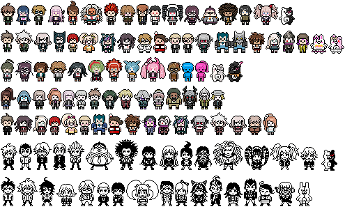 New Flair Ideas: All Official Danganronpa Pixel Sprites in PNG
