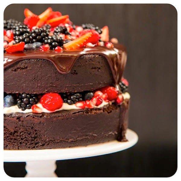 Bolo Pelado De Chocolate Cake
