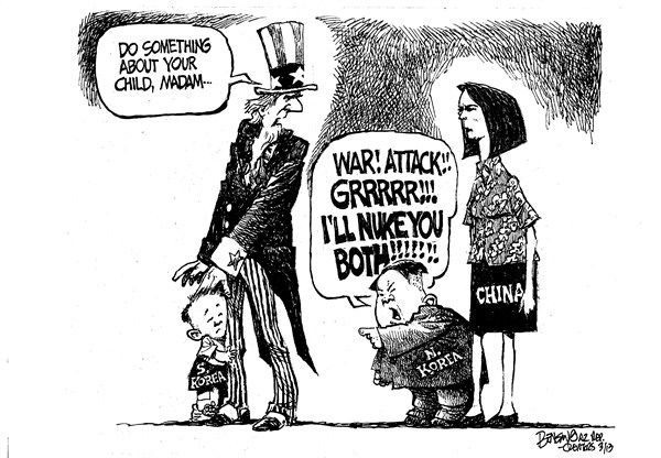 8 best images about Editorial cartoons on Pinterest ... |Current Political Cartoons North Korea