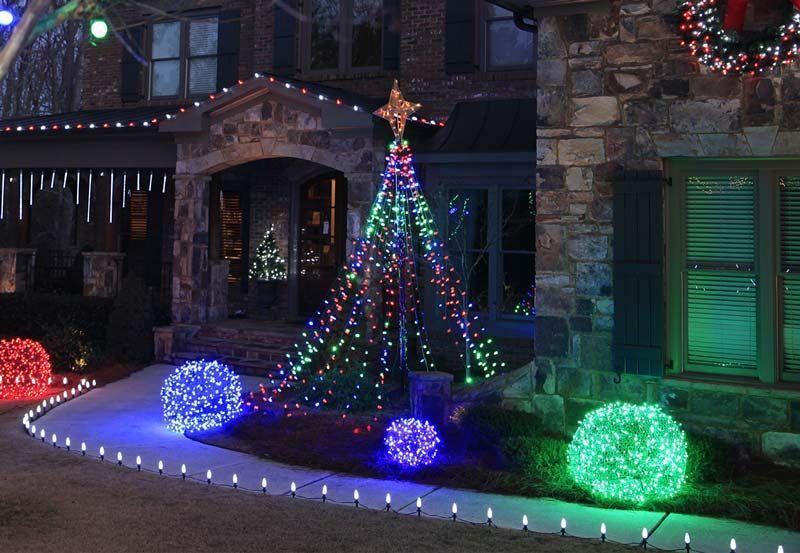 Outdoor Christmas Yard Decorating Ideas Diy And Crafts Outdoor Christmas Decorations Lights Outdoor Christmas Lights Diy Christmas Lights