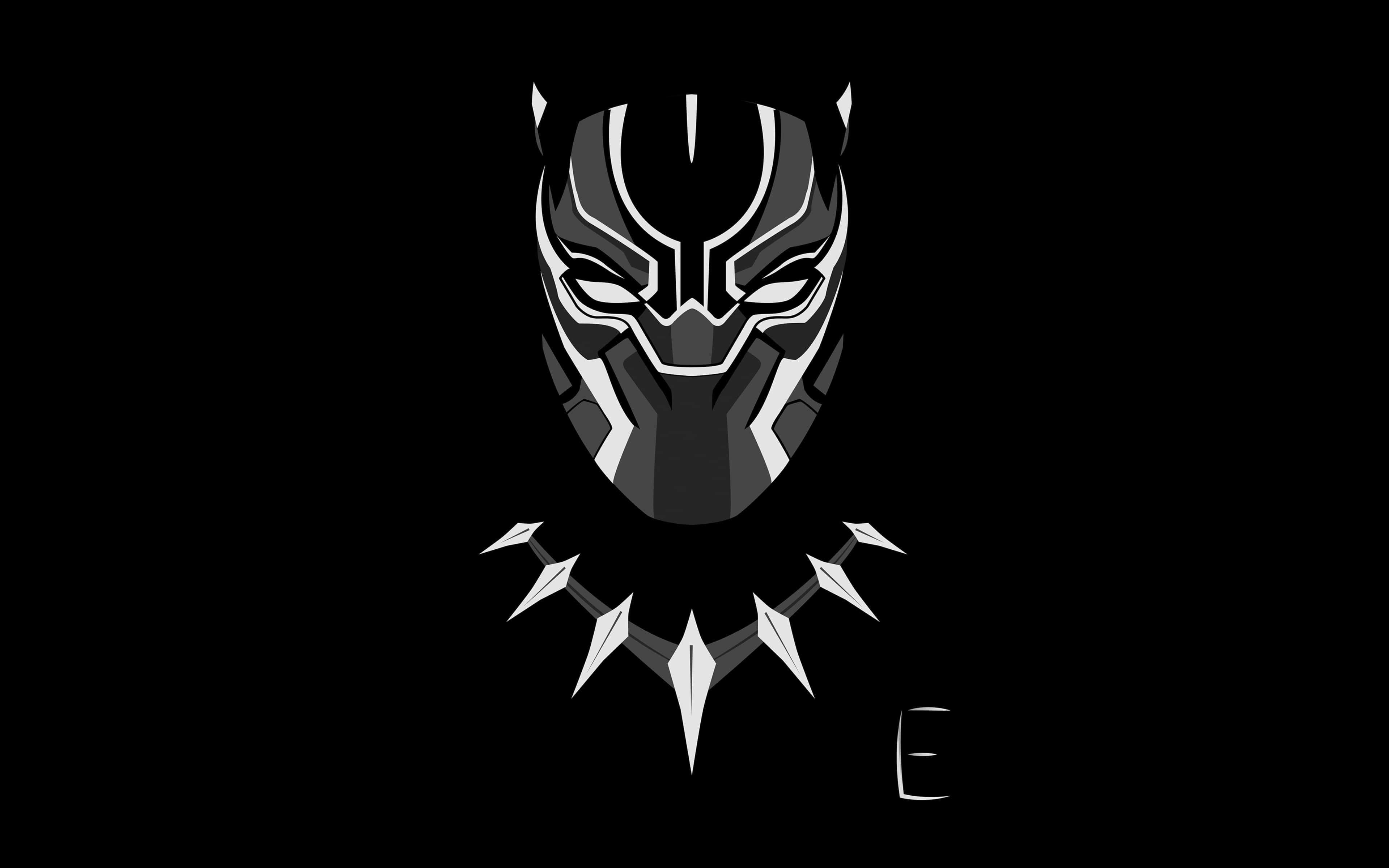 Black Panther Minimalism Desktop Wallpaper Black Marvel