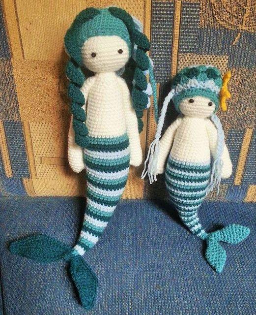 Häkelfieber Austria H At Bibi Kleine Meerjungfrau Amigurumi Puppen