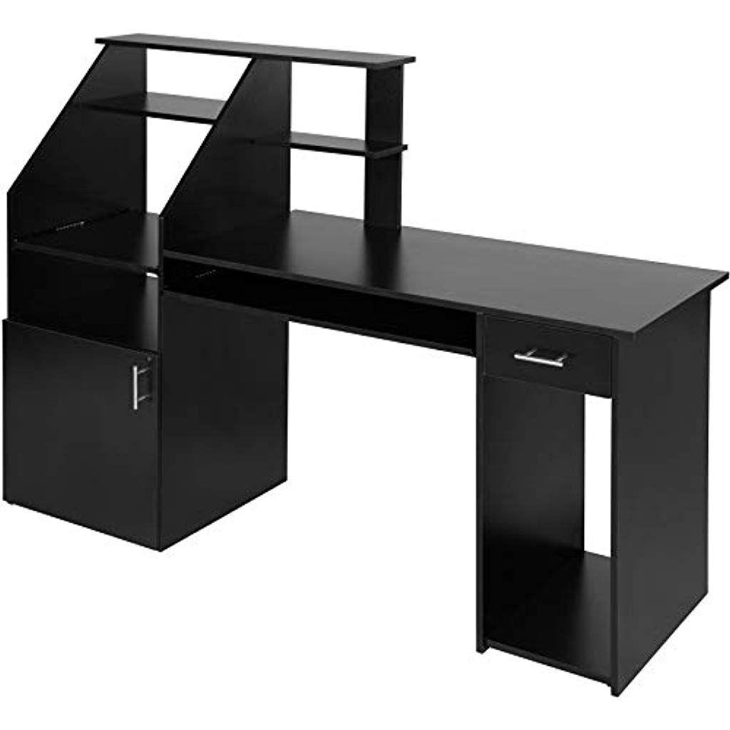 tectake Design Informatique pour Bois 800731 en Bureau 0P8XNOnwk