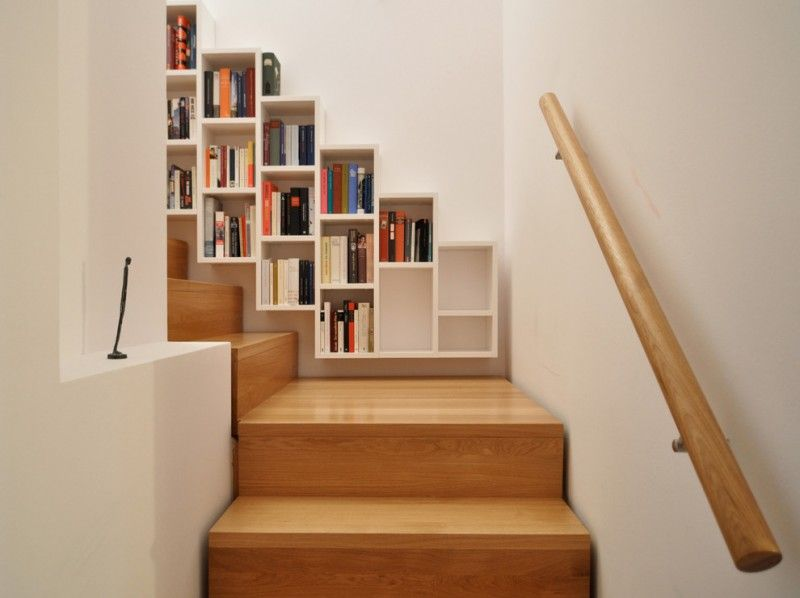 Awesome Stair Step Bookcase Stairs Books Shelves Wood Contemporary Staircase Of The  Best Stair Step Bookcase Combos