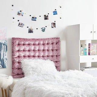 Rainha Cushion Tufted College Headboard - Velvet Crush (Raspberry Pink Quartz)