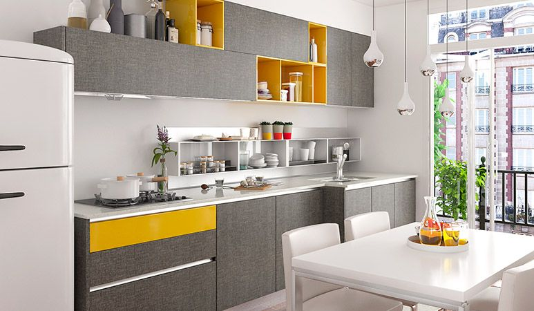 Op16M0610Squaremetersstraightlinemodernstylekitchen Captivating Straight Line Kitchen Designs 2018