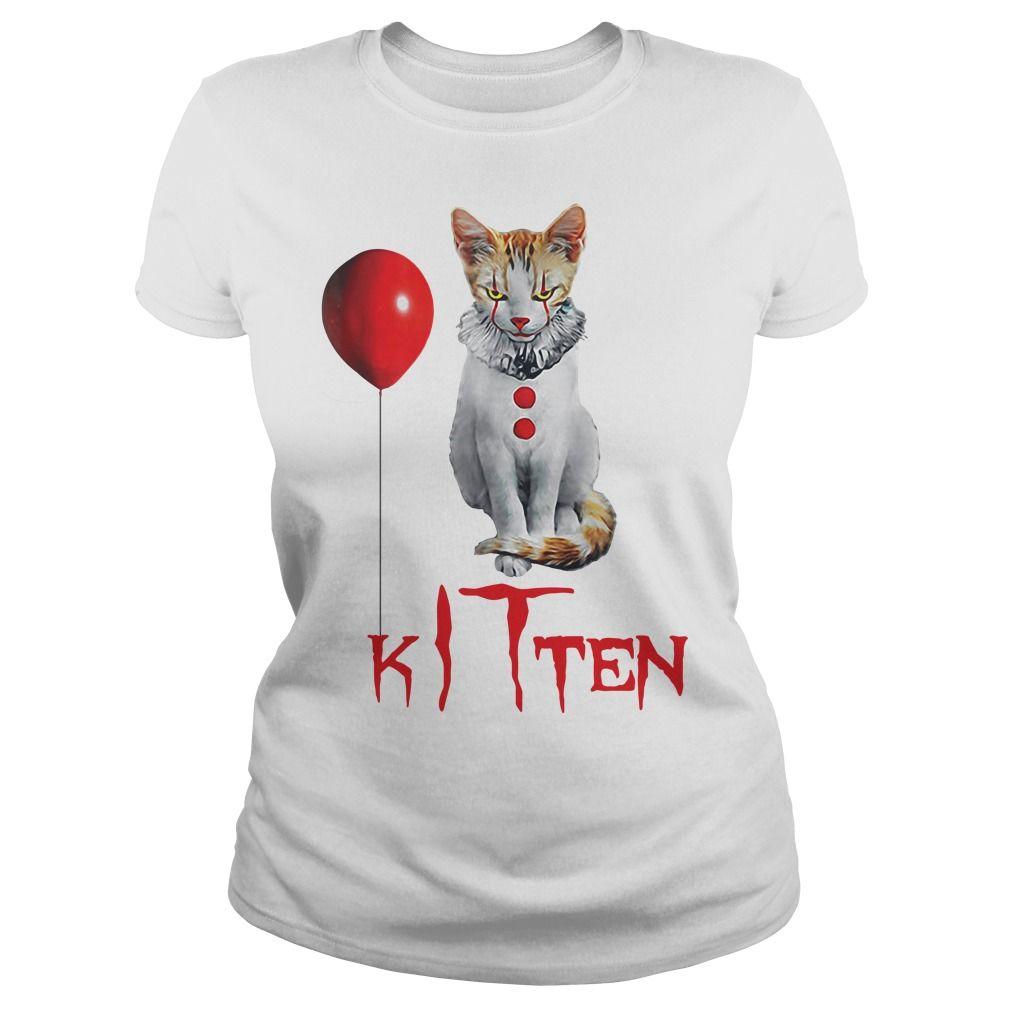 Halloween Clown Kitten Shirt Kittens Shirt Halloween Clown Kitten