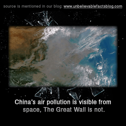 002 China air pollution is visible from space, The Great Wall