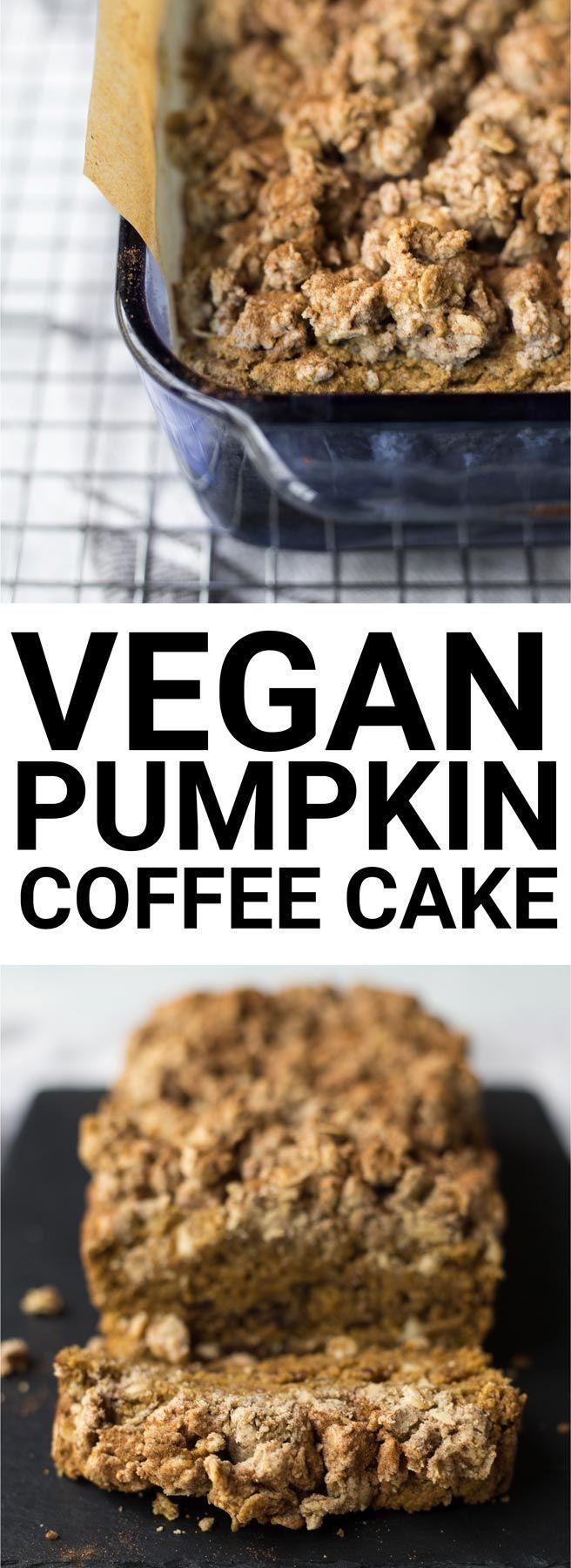 Easy Gluten Free Vegan Pumpkin Coffee Cake Recipe (Dairy