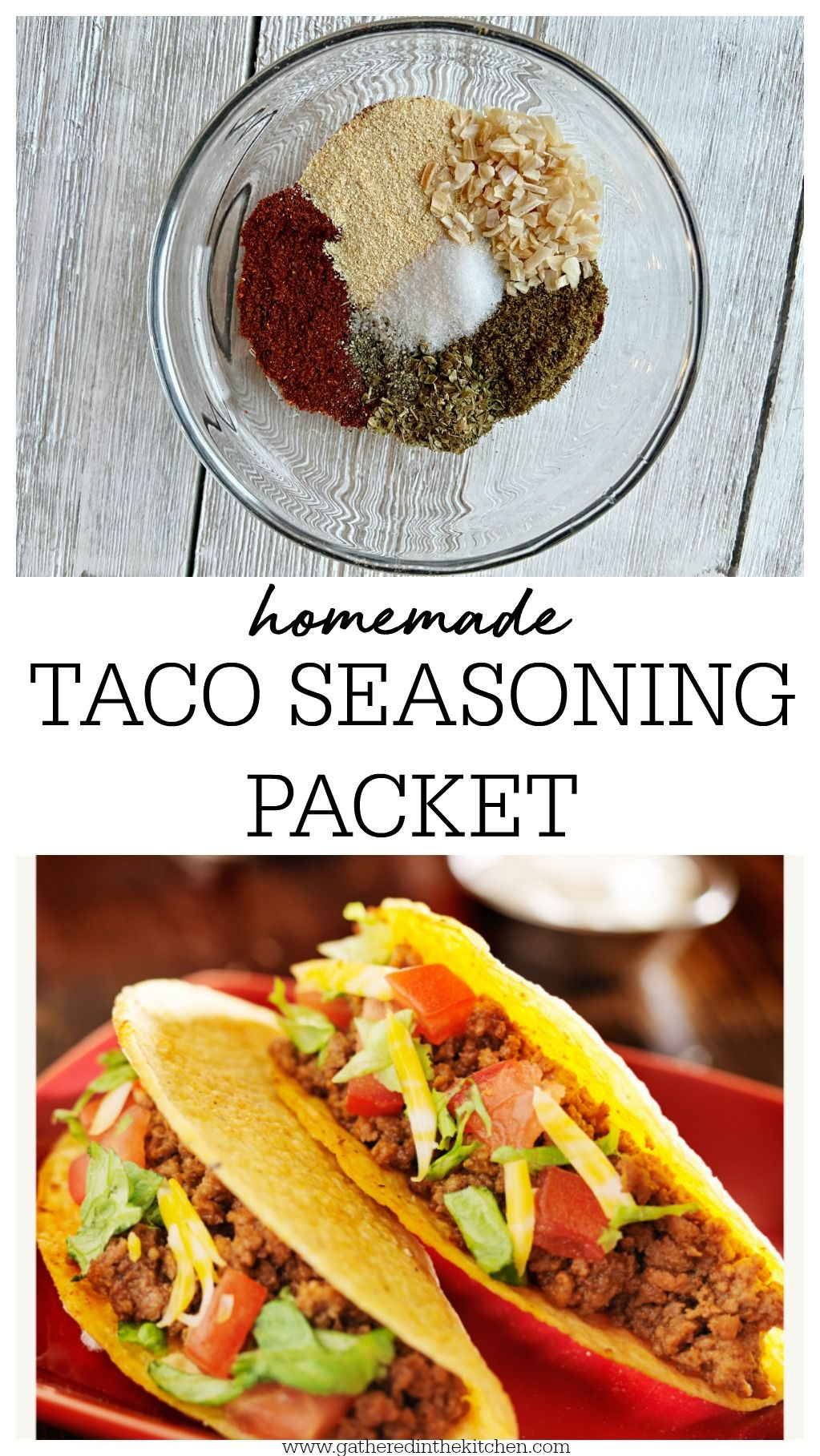 Homemade Taco Seasoning Packet Gathered In The Kitchen Recipe Taco Seasoning Packet Homemade Taco Seasoning Taco Seasoning