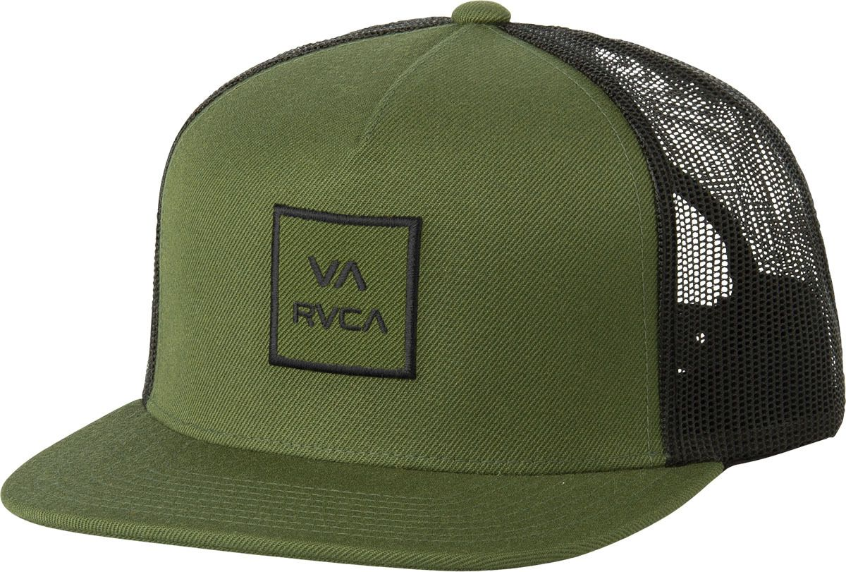 8fb6ae88648 ... hat black 49fb2 395fa wholesale the rvca va all the way iii trucker is  a mid fit 5 panel adjustable ...