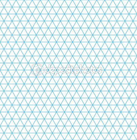 Isometric Grid Paper Seamless Pattern  Stock Illustration