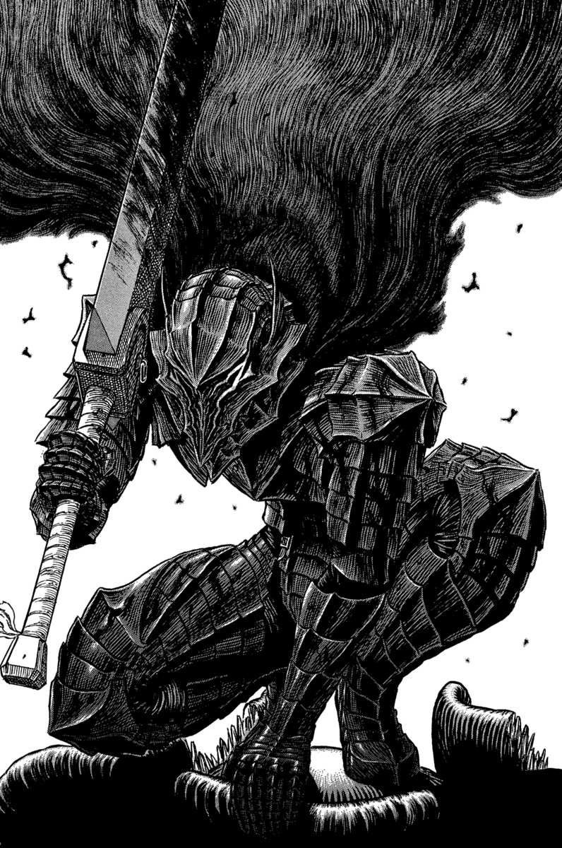 Berserk (Anime series) takes the best part of its lengthy foundation, the manga, and tells its dark and twisted tale in a very fluent manner, making it a piece of art on its own.