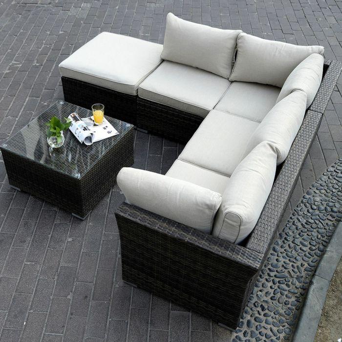 schick gartengestaltung rattan sofa garten - rattan sofas sind perfekt für ihre