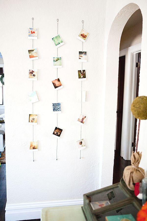 22 Foto- / Instagram-Wände als Teil von Interior Interiorforlife.com Dies ist eine fantastische Idee, nicht nur für eine Party, sondern auch für ein Schlafzimmer. Stellen Sie einfach sicher, bab …