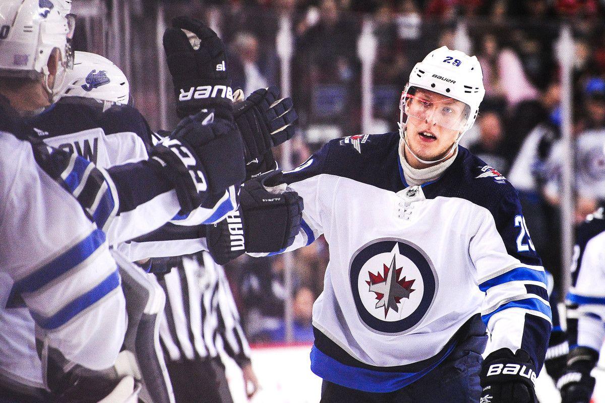 Patrik Laine: Patrik Laine scores five goals, 2 short of 97-year-old NHL record