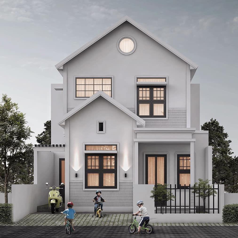 Model Rumah 2 Lantai Minimalis Unik Sederhana Terbaru Di 2020 Rumah Minimalis Rumah Arsitektur Rumah