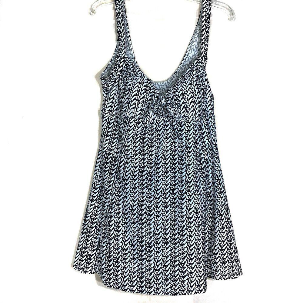 105ca16baaf Island Pearls Womens Size 16 Swimsuit Black White One Piece Swimdress  Bathing #IslandPearls #Swimdress #SummerBeach