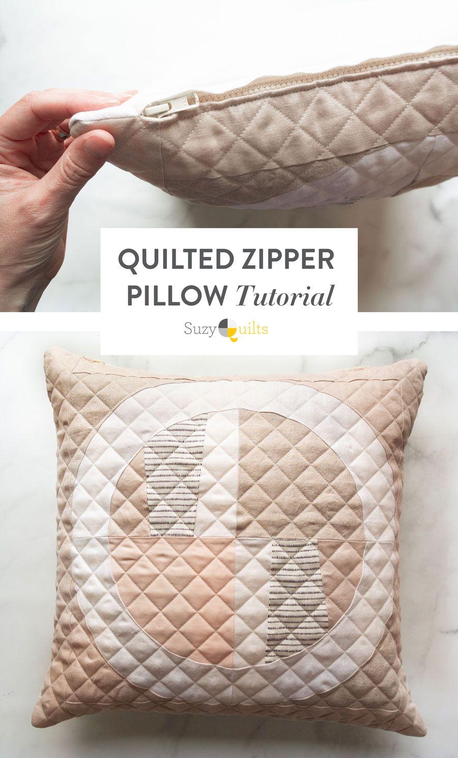 Make a Quilted Zipper Pillow Photo Tutorial Pillows
