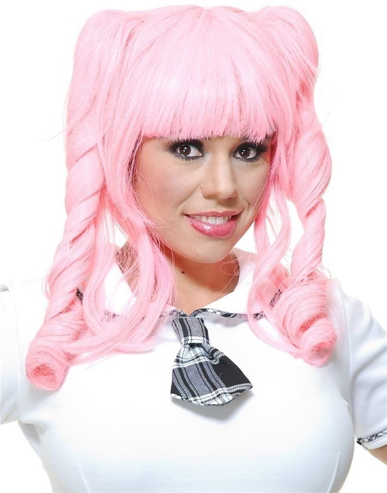 Mahou shoujo madoka wig anime wigs halloween wigs pink wig