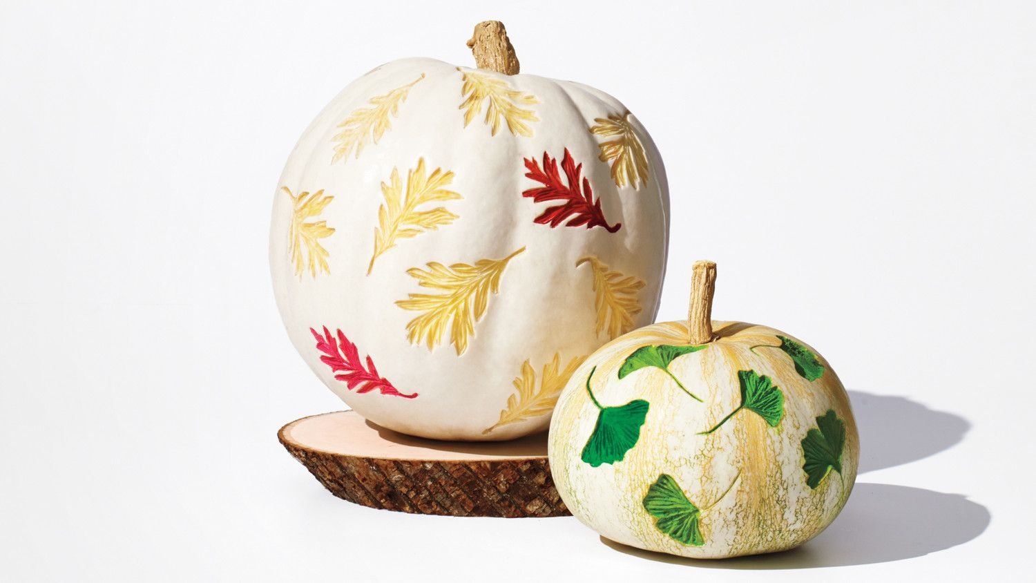 A fun new way to carve pumpkins easy etched leaf patterns