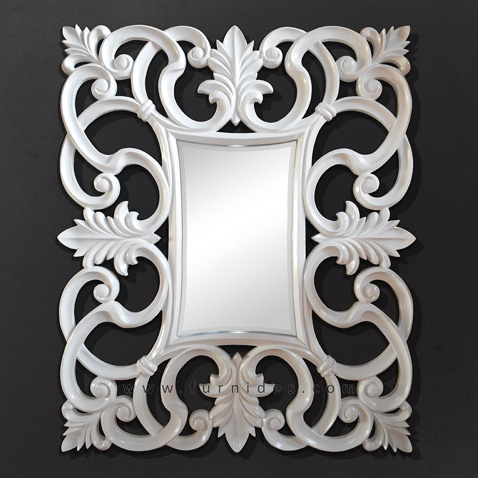 Cermin Hias Idcd018 Putih Mirror Frames Mirror Decor