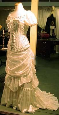 bbaf86c662 Corset wedding dresses are typical of the Victorian era wedding dresses and  brides wore tight corsets during Victorian time also.