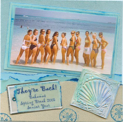 Bahamas scrapbook page  (Dyan Cross - http://www.pinterest.com/dyancross