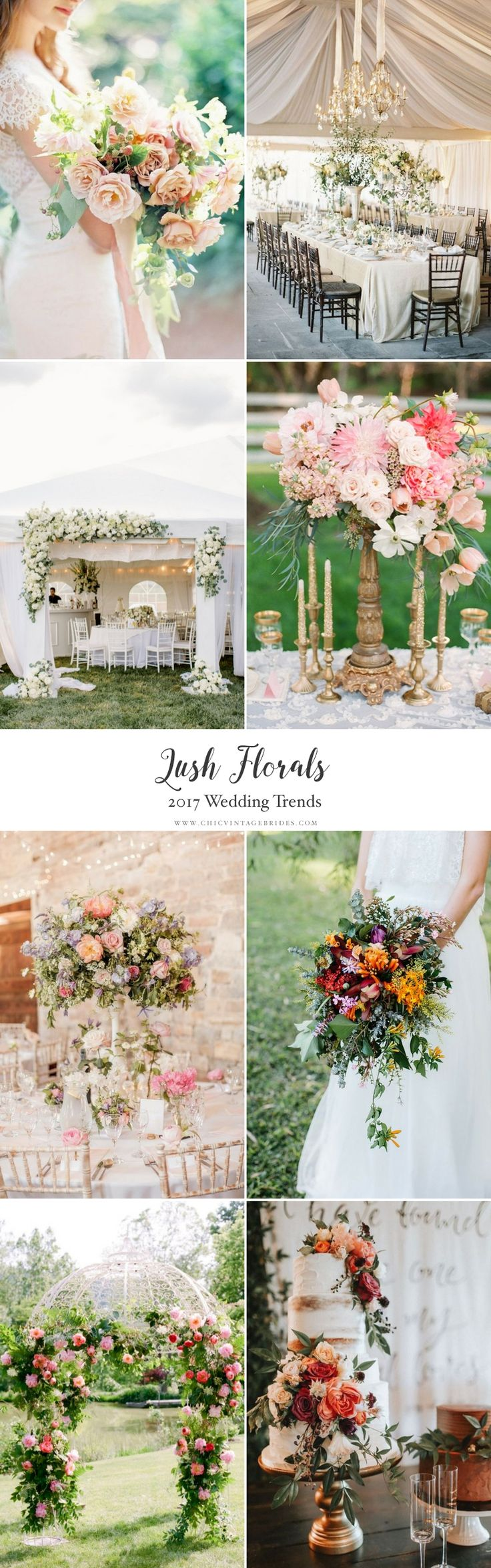 Top Wedding Trends 2017 - Lush Florals