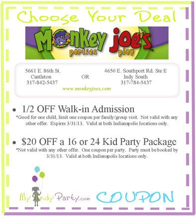 Active Monkey Joe's Promo Codes & Deals for October 12222