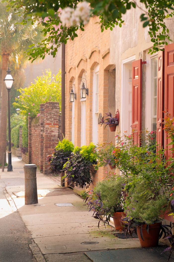 hueandeyephotography:  Row Houses on Queen Street, Charleston, SC © Doug Hickok All Rights Reserved More here… hue and eye