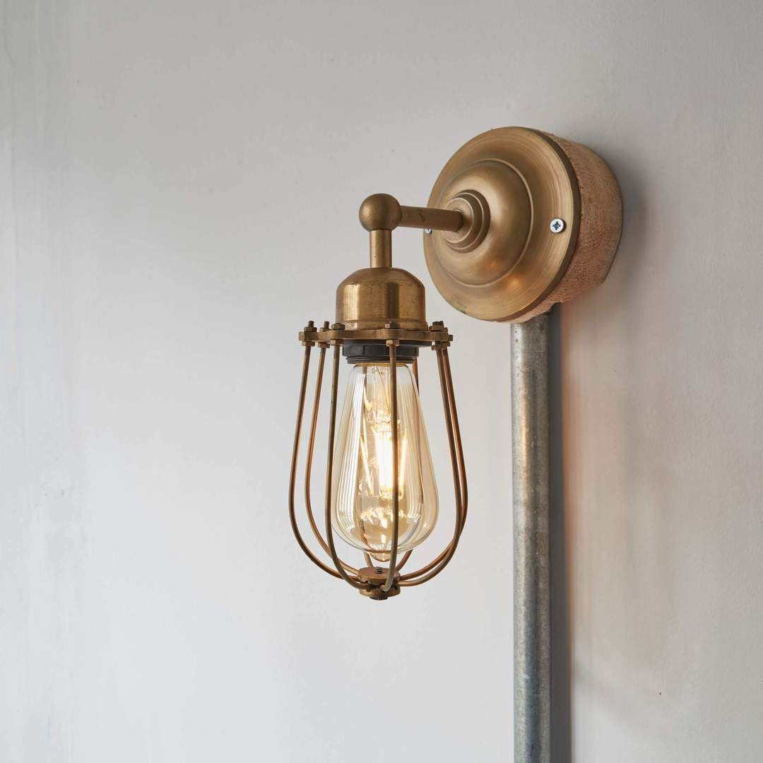 Our orlando vintage wire cage sconce wall light by industville is a classic handcrafted lighting fixture