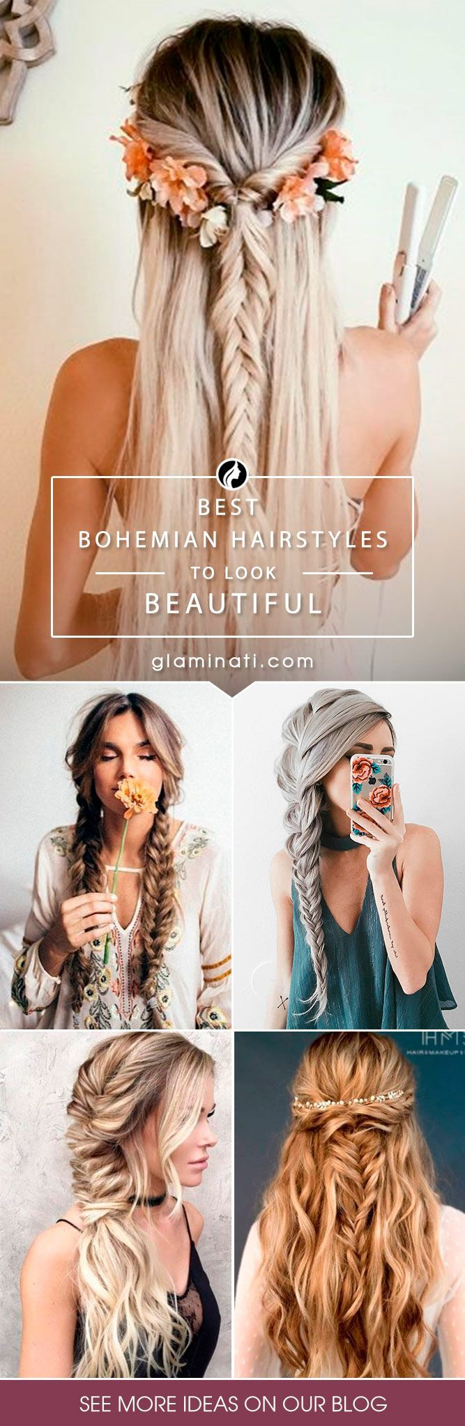 Bohemian hairstyles are worth mastering because they are creative