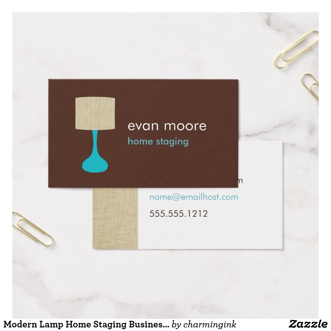 Modern Lamp Home Staging Business Card | Business | Pinterest ...