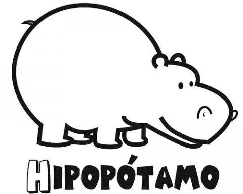 Dibujos De Hipopotamo Para Colorear E Imprimir Con Imagenes