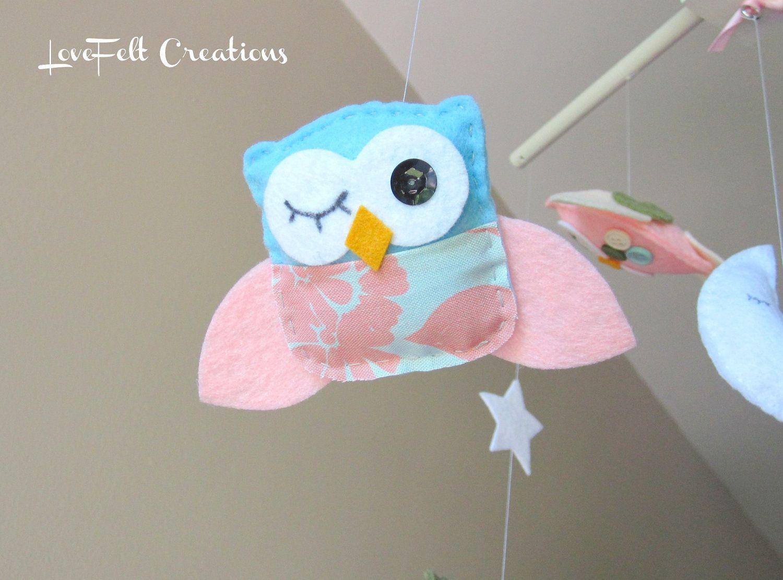 Baby Crib Mobile Baby Mobile Owl And Birds Mobile