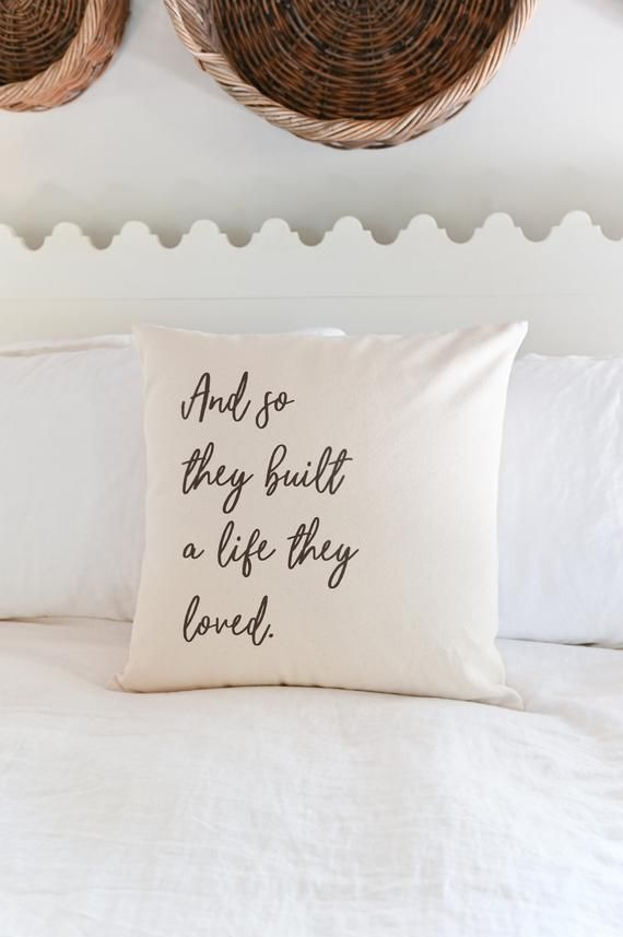 Living Room Pillow | And So They Built A Life They Loved | Master Bedroom Pillow | Couples Gift | Th