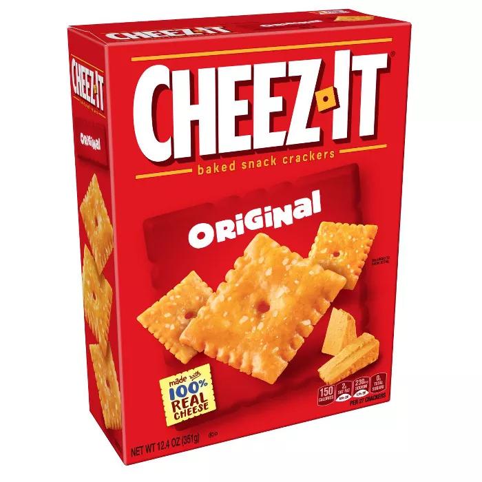 Cheez It Original Baked Snack Crackers 12 4oz In 2021 No Bake Snacks Snacks School Lunch Recipes
