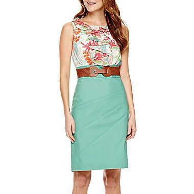 Alyx Sleeveless Sheath Dress, 18 , Pink from JCPenney at