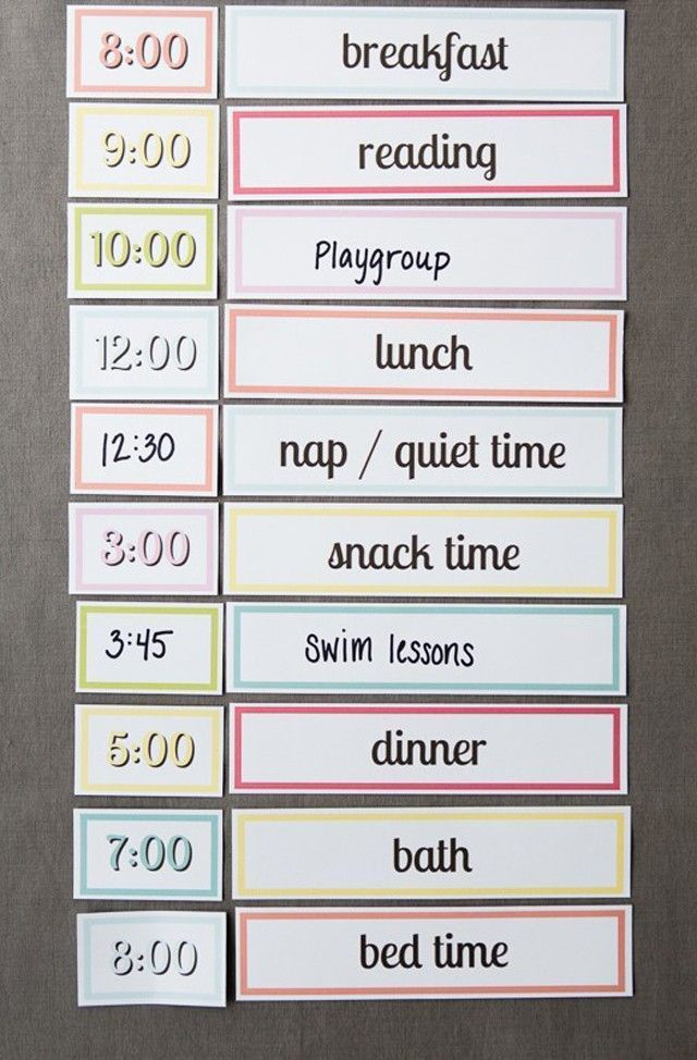 Free Printable Setting up a Simple Routine with Kids Parenting - project timetable