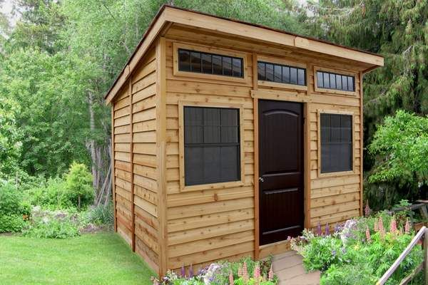 The 12 Ft X 8 Ft Studio Garden Shed Features A Fresh New Modern Design For The Urban Multipurpose Garden Building Shed Design Building A Shed Backyard Sheds