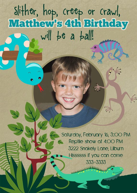 Reptile Birthday Party Invitations Printable By PartyPopInvites 1700