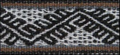 Pattern used in Andean textiles, probably representing the mountains