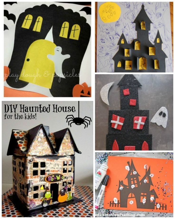 10 Haunted House Crafts For Kids. Excellent Preschool Crafts For Halloween.