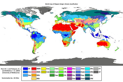 Kppen geiger climate classification world map the power of maps kppen geiger climate classification world map earth system scienceearth gumiabroncs Images