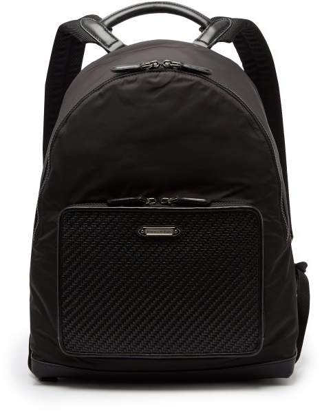 edcebd039e Ermenegildo Zegna - Front Pocket Nylon And Leather Backpack - Mens ...