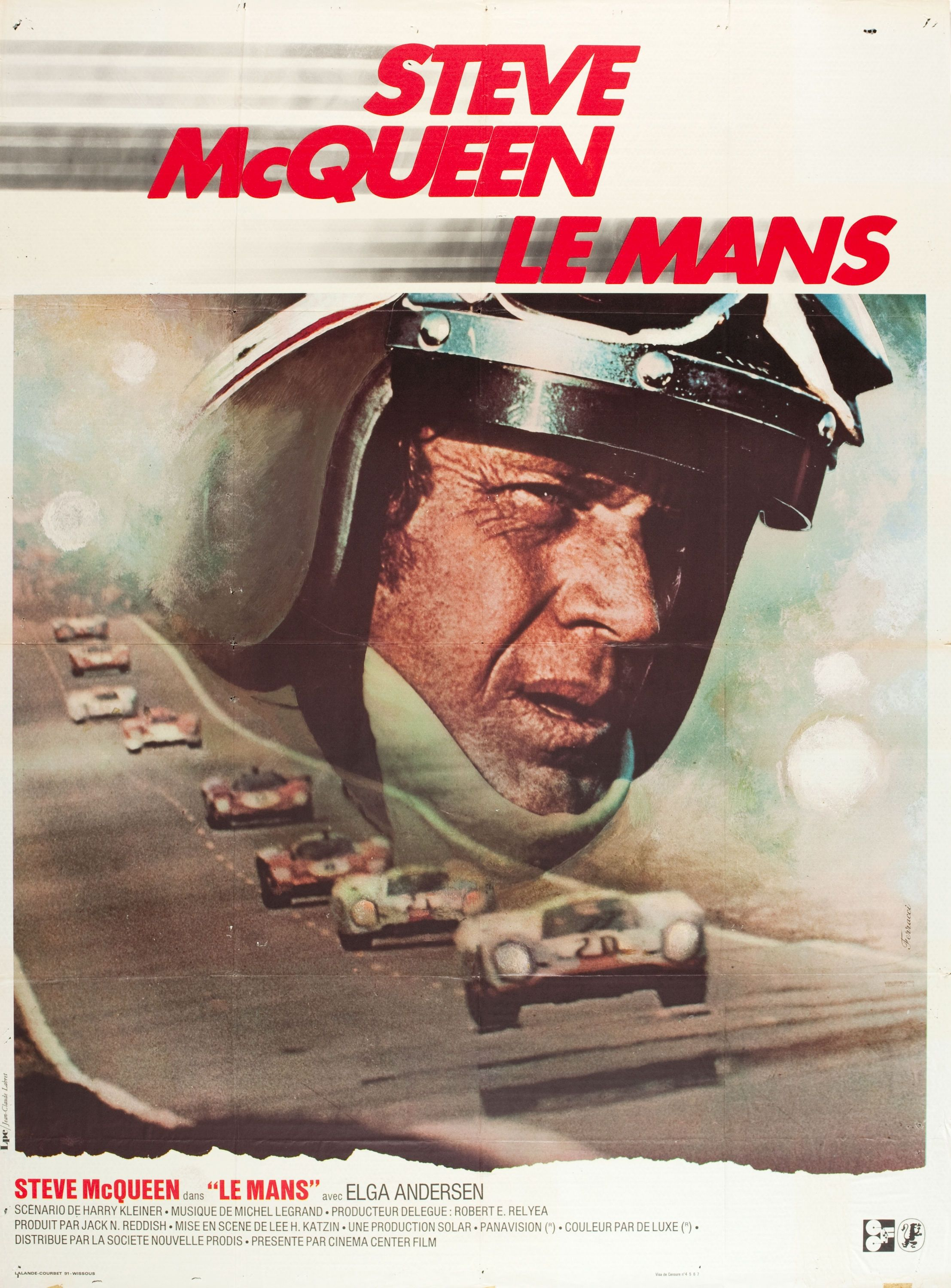 Home gt steve mcqueen porsche paintings - Original French Movie Poster For The Steve Mcqueen Motor Racing Epic