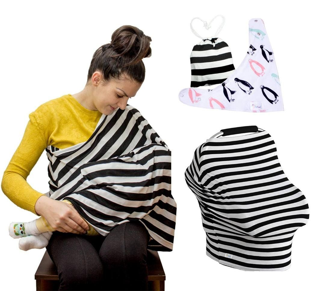50ada92e372fe breastfeeding accessories - Cotton Nursing Cover Stretchy Car Seat Covers  Canopy for Babies and Breastfeeding Cover Ups Baby Bib Gift Set Stylish  Infinity ...