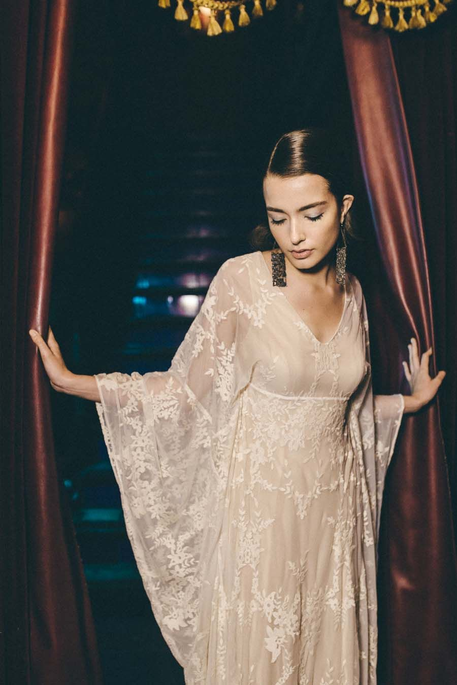 Glitter & Disco Beautiful 70s Inspired Wedding Dresses by